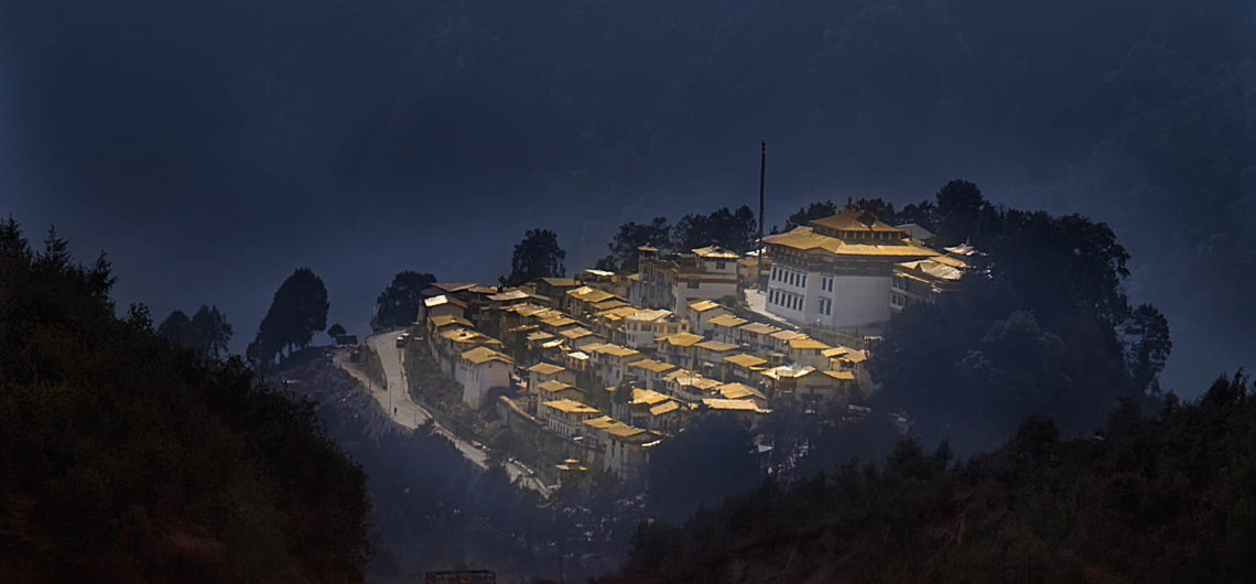 The Tawang Monastry, overlooking the Himalayan ranges.